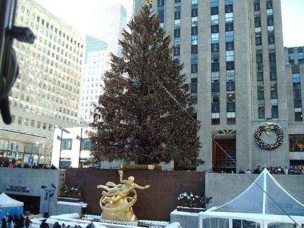 weihnachten in new york der weihnachtsbaum am rockefeller. Black Bedroom Furniture Sets. Home Design Ideas